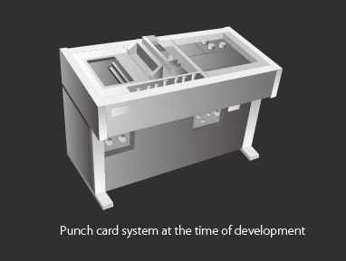 Punch card system at the time of development